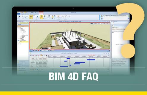 Environnement 4D GANTT logiciel Edificius 3D BIM