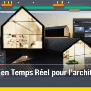 Fonctionnalité Rendu en Temps Réel du logiciel Edificius 3D BIM pour l'architecture.