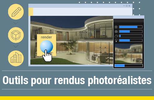 Les rendus photoréalistes issue du logiciel Edificius 3D BIM architecture