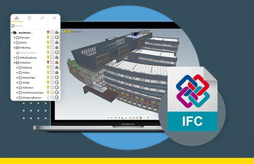 IFC logiciel usBIM.viewer+ visionneuse IFC ACCA software