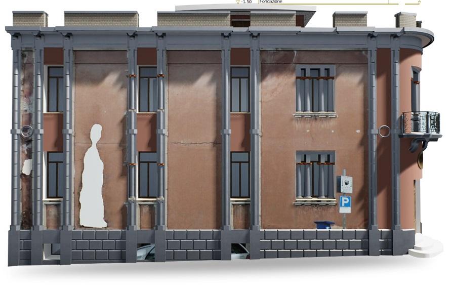 Gestions des niveaux de bâtiments historiques issu de Edificius HBIM