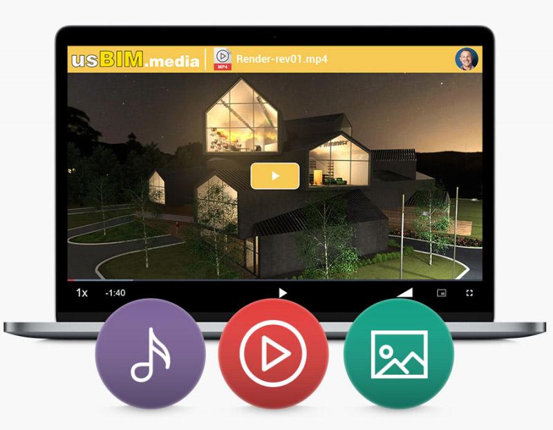 Applications gratuites usBIM pour lire des vidéos et des contenus multimédias dans usBIM, directement à partir de votre navigateur sans autre logiciel ni plug-ins.