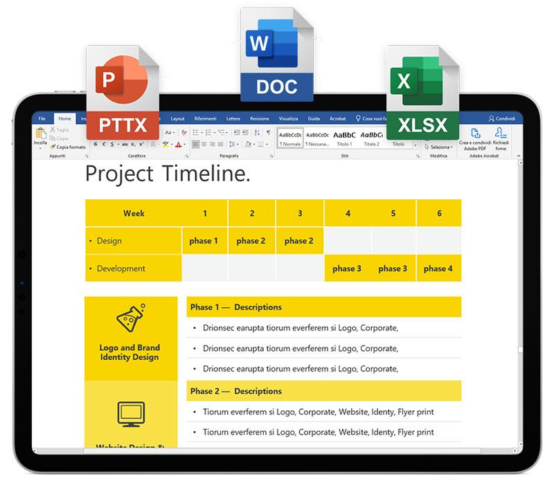 Application pour visualiser, créer et éditer des documents Microsoft Office® (Word, Excel, PowerPoint) directement en ligne.