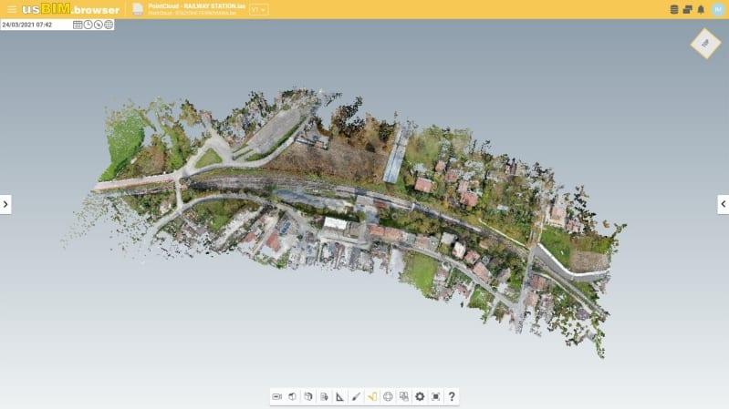 Visualiser un nuage de points en ligne avec usBIM.pointcloud