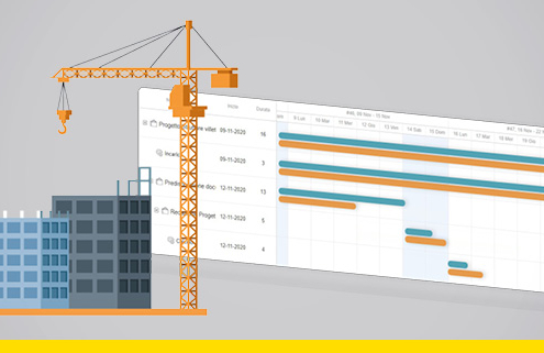 Logiciel pour la modélisation 4D et la gestion du planning