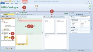 importar bloco 3D do catálogo online
