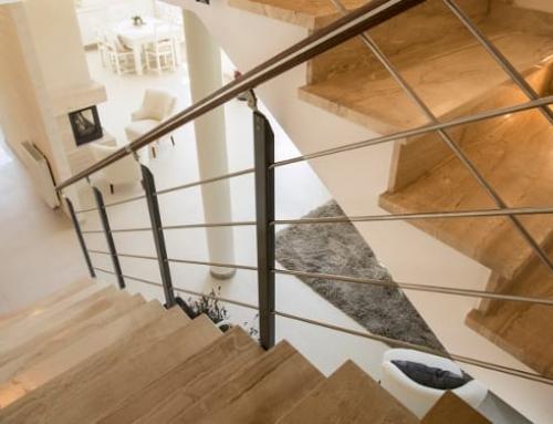 Desenho de uma escada com um software BIM para arquitetura