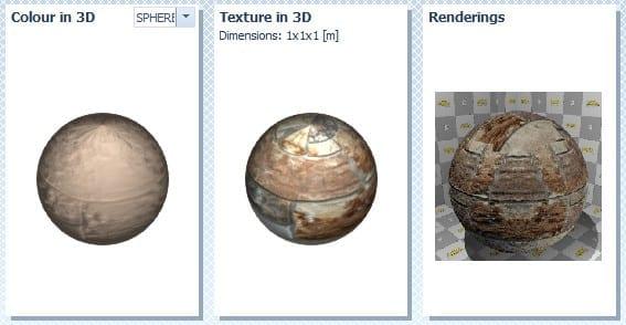 Cor textura rendering BIM