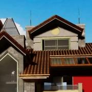 Desenhar um telhado com um software BIM