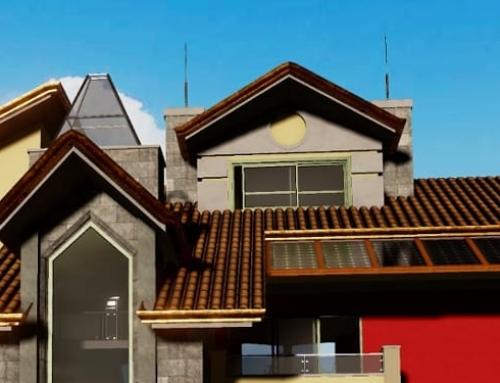 Desenhar um telhado com um software BIM e associar-lo aos objetos