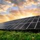 Desenho de uma usina fotovoltaica