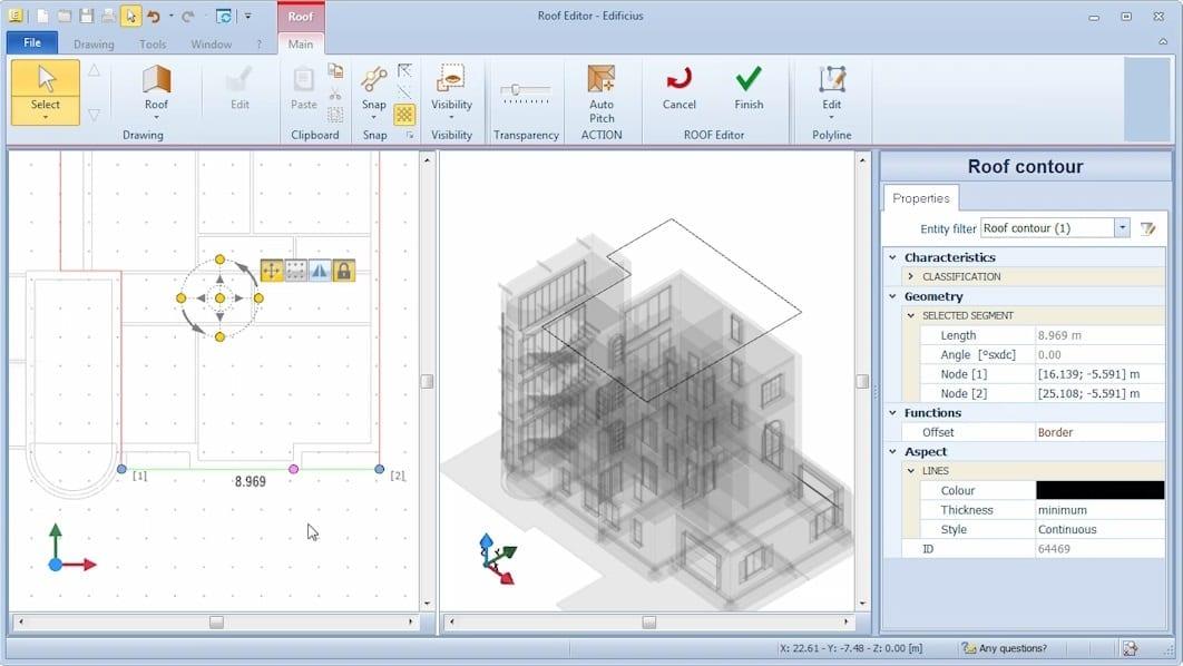 Edificius: personalização águas telhado