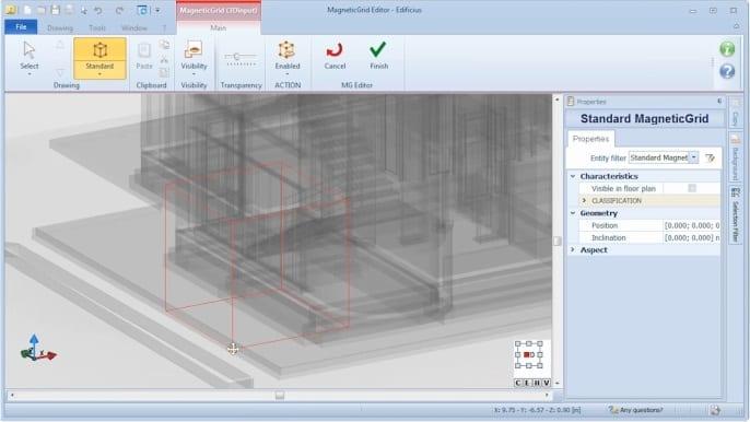 MagneticGrid padrão - software BIM Edificius