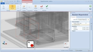 Alterar ponto sensível MagneticGrid 01 - software BIM Edificius -