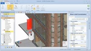Colocação objeto BIM brise-soleil - software BIM Edificius