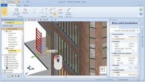 Alteração livre objeto BIM com MagneticGrid 01 - software BIM Edificius
