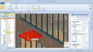 Alteração livre objeto BIM com MagneticGrid 02 - software BIM Edificius