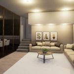 Render Interiores: sala de estar software BIM Edificius