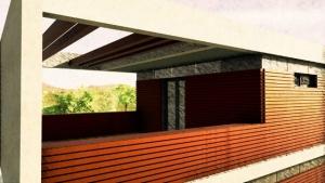Detalhe terraço - Casa Roncero