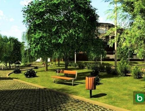 Desenho jardins e paisagem com a ajuda de um software