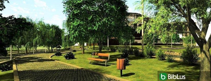 Desenho jardins e paisagem