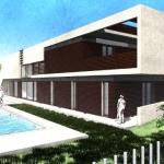 Jardim com piscina - Casa Roncero