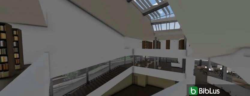 escada e peitoril com um software BIM Daegu Gosan Public Library