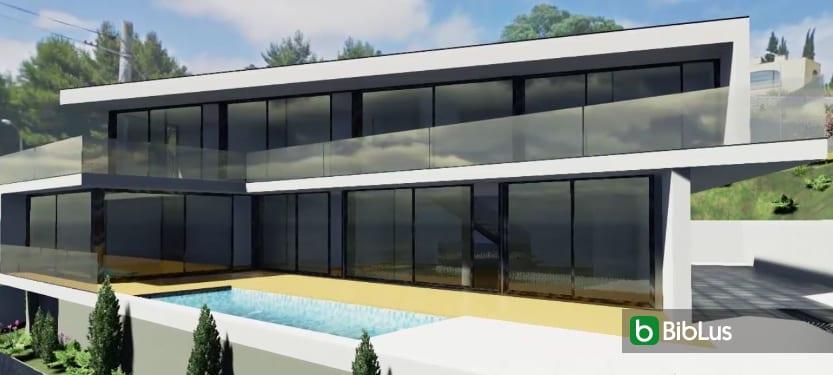Casa JC desenhada com um software BIM