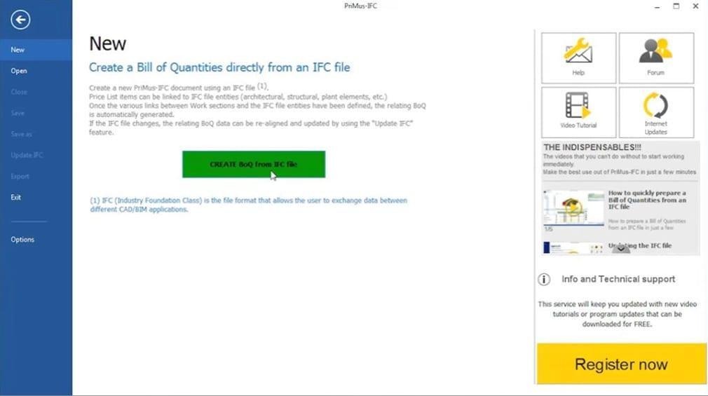 Aquisição orçamento a partir de modelo BIM_PriMus-IFC