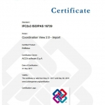 Certificado IFC de Edificius para IFC import