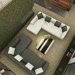 Área de estar Country House em Marfino