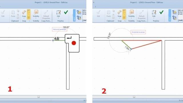 Inserção medidas invólucro horizontal_BIM software_Edificius