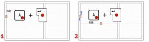 Definição distâncias entre pontos de referência medinate teclas A e Enter