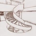 Escada interior_efeito artístico_Park House_Edificius