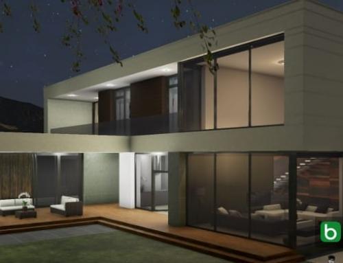 Desenho arquitetônico de uma casa com um software BIM: Country House em Marfino