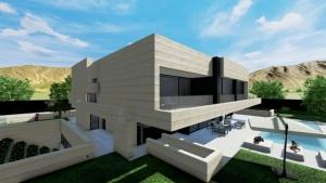 Terrazzamento e piscina_Park House_Edificius
