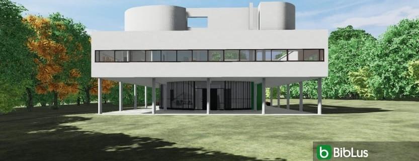 Desenhar Villa Savoye com um software BIM-Edificius