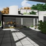 Entrada terraço living-Villa-Savoye-BIM-Edificius