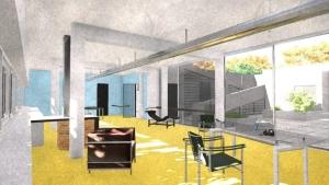 Sala de estar vista terraço-Villa-Savoye-BIM-Edificius