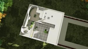 Vista do teto jardim de Villa Savoye