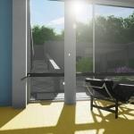 Vista terraço living-Villa Savoye-BIM-Edificius