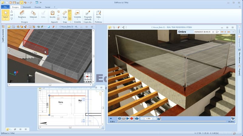 Desenho com objetos paramétricos no software BIM Edificius