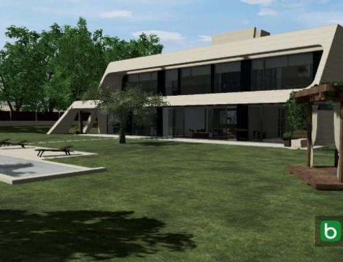 Organização dos espaços exteriores de uma mansão com um software: Marble&Bamboo