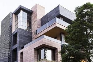 Detalhe volumetrias de Cuboid House