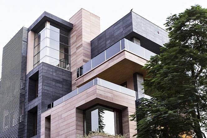 Detalhe das volumetrias de Cuboid House