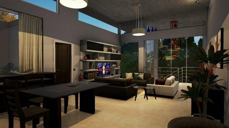 Posicionamento dos pontos de luz nos ambientes interiores