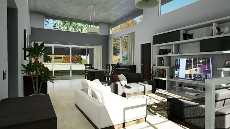 Área de estar: elementos de mobiliário