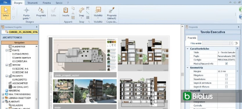 Modificar um projeto e obter a atualização dinâmica de todas as vistas do modelo software BIM Edificius