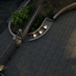 Luzes escada externa