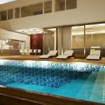 Níveis variáveis na piscina